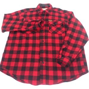 Woolrich Wool Buffalo Plaid Outdoor Hunting Shirt